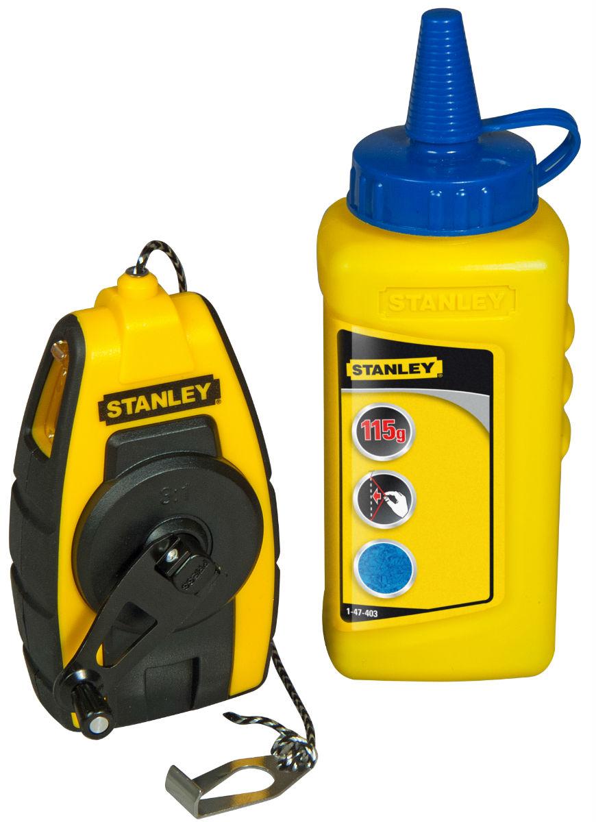 Подробнее о Набор Stanley (0-47-244) - шнур разметочный 9 м + краситель stanley 500мм 7tpi 2шт 0 20 244