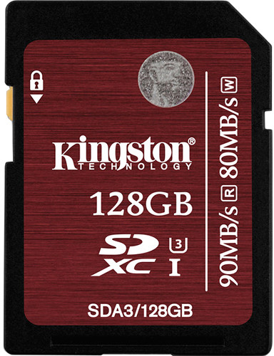 Kingston SDXC 128Gb Class 10 U3 UHS-I (SDA3/128GB) - карта памяти