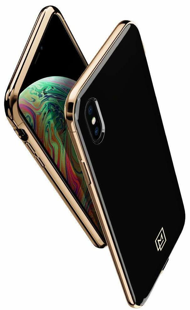 Чехол Spigen La Manon Etui (063CS25310) для iPhone Xs/X (Gold/Black)