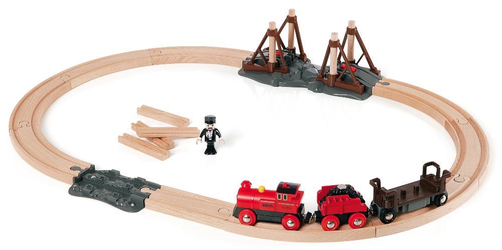 BRIO Стартовый набор с паровозом и строящимся мостом (33030) - железная дорога
