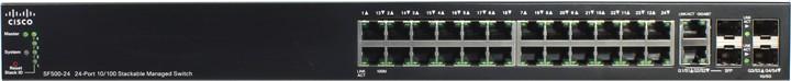 Cisco SF500-24P-K9-G5 24-port Gigabit Stackable Managed Switch - управляемый коммутатор