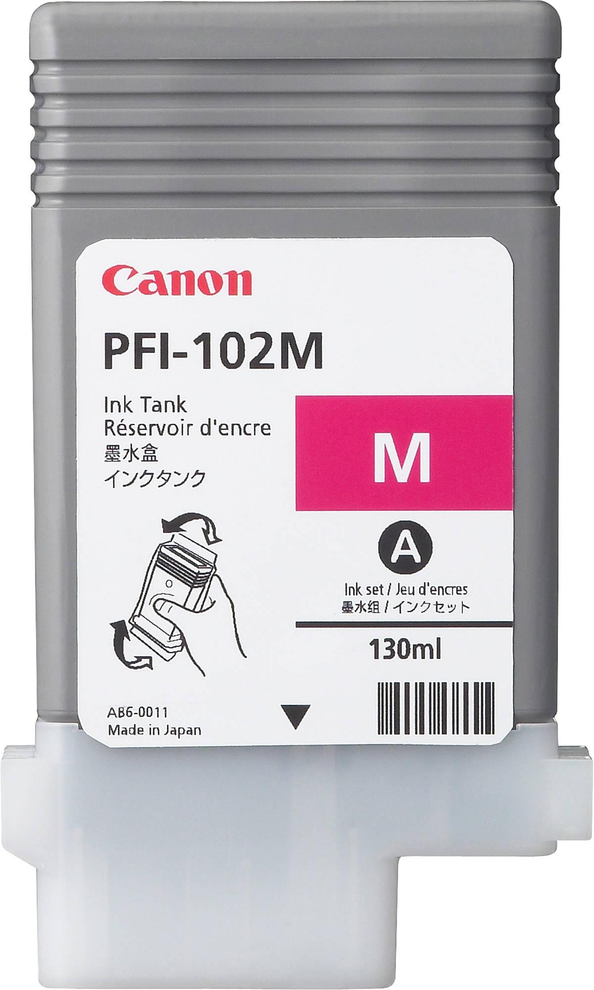 Canon PFI-102M (0897B001) - картридж для принтеров Canon iPF500/600/610/700/710 (Magenta)