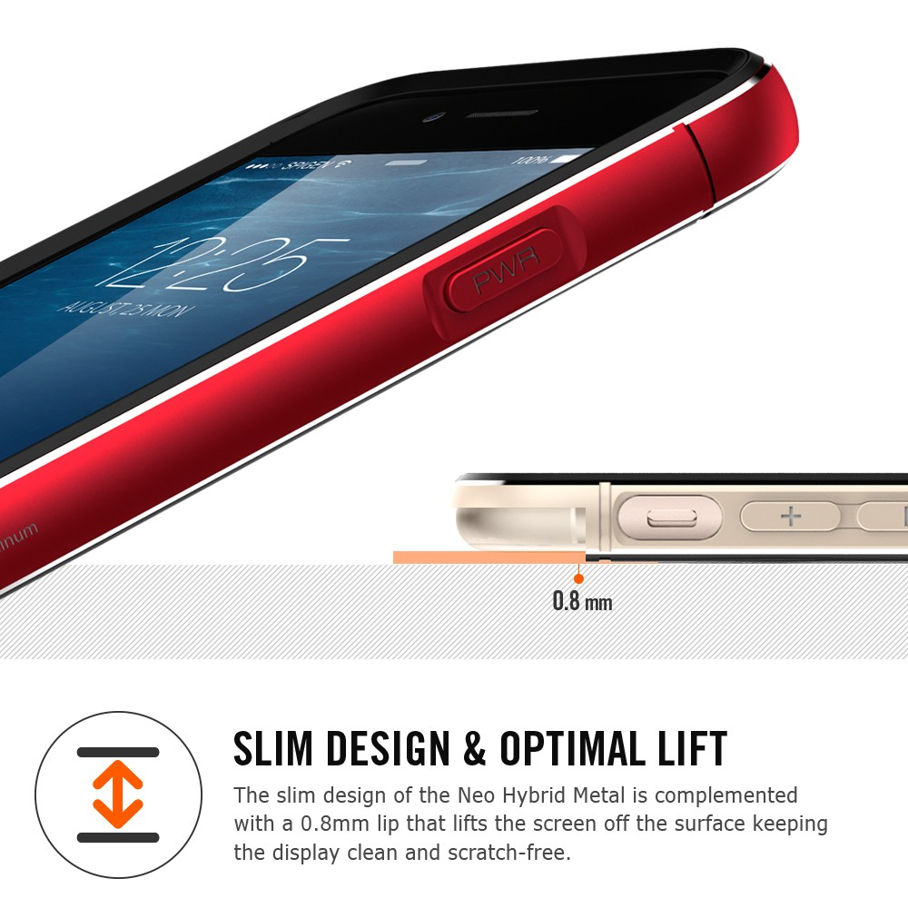 "Spigen Neo Hybrid Metal (SGP11040) - чехол для iPhone 6 4.7"" (Metal Red)"