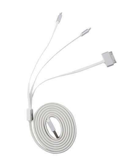 3 in 1 Cable (Lightning, microUSB, 30-pin)