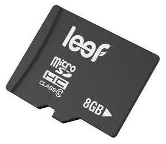 Leef microSDHC 8Gb Class 10 (LMSA0KK008R5) - карта памяти с адаптером (Black)