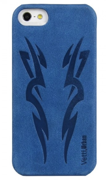 Vetti Urban myTattoo Leather Snap Cover - чехол для iPhone 5 (Classic Vintage Blue) от iCover