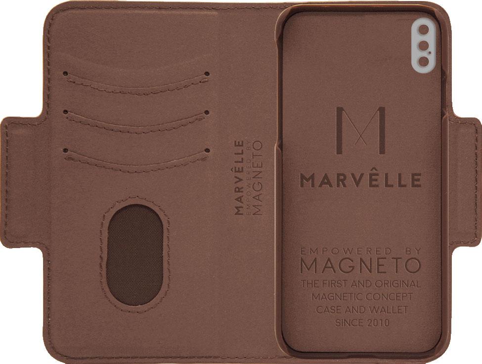Чехол Marvelle N°307 для iPhone X/Xs (Walnut Dark Brown Signature)