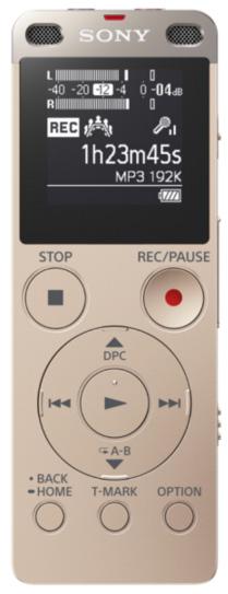 Sony ICD-UX560 - цифровой диктофон (Gold)Цифровые диктофоны<br>Цифровой диктофон<br>