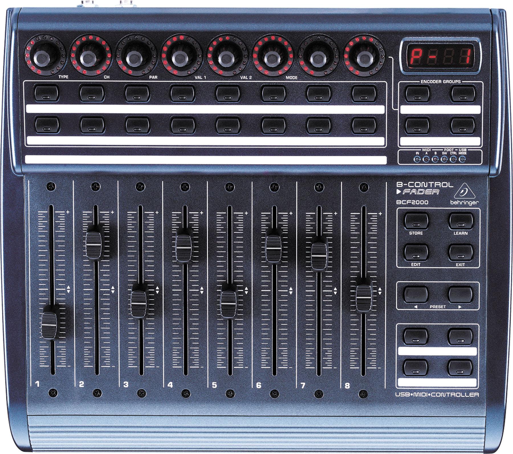 Behringer BCF2000 MIDI (A041999) - контроллер с USB подключением (Blue) midi контроллер g volca sample