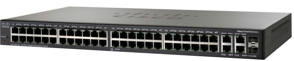 Коммутатор Cisco SG 300-52 52-port Gigabit Managed Switch