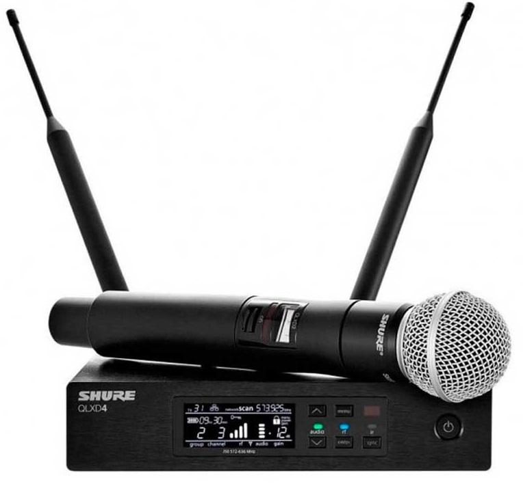 Shure QLXD24E/SM58 K51 (A051391) - вокальная радиосистема с ручным передатчиком KSM9 (Black)