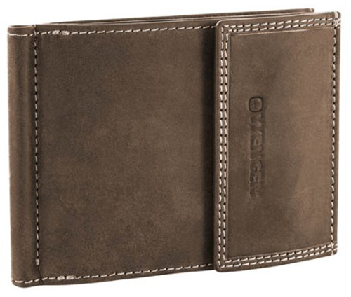 Wenger Le Rubli (W5-10BROWN) - портмоне с зажимом для денег (Brown)