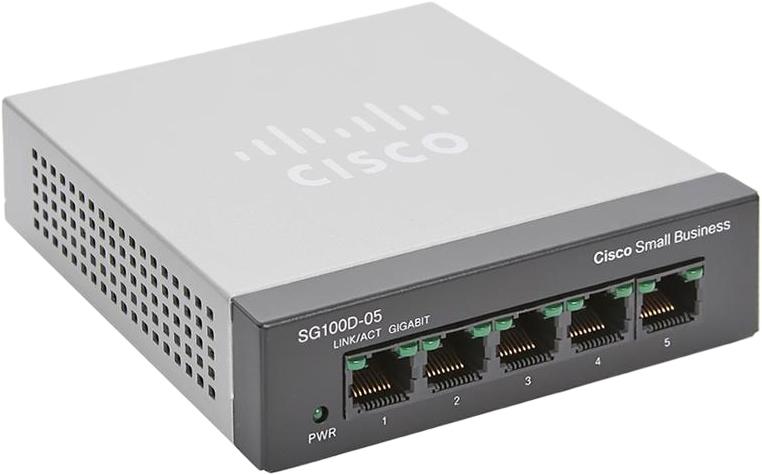 Cisco SG100D-05 5-Port Gigabit Desktop Switch