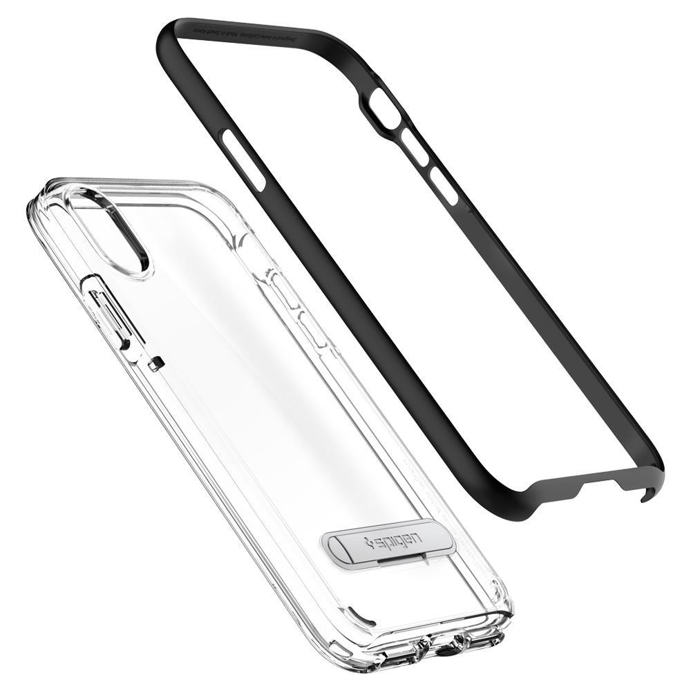 Spigen Crystal Hybrid для Apple iPhone X (Black)