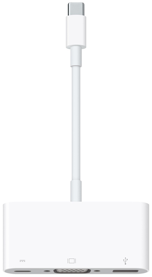Адаптер Apple USB-C VGA Multiport (MJ1L2ZM/A) от iCover