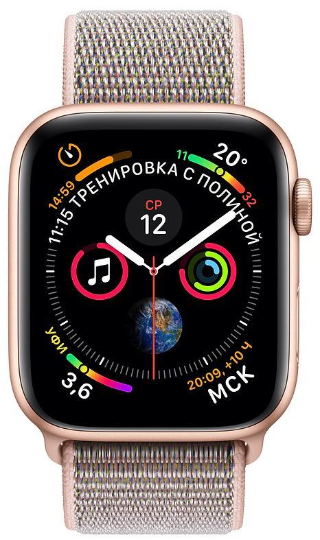 Умные часы Apple Watch Series 4 44 mm with Sport Loop (Gold/Pink Sand)