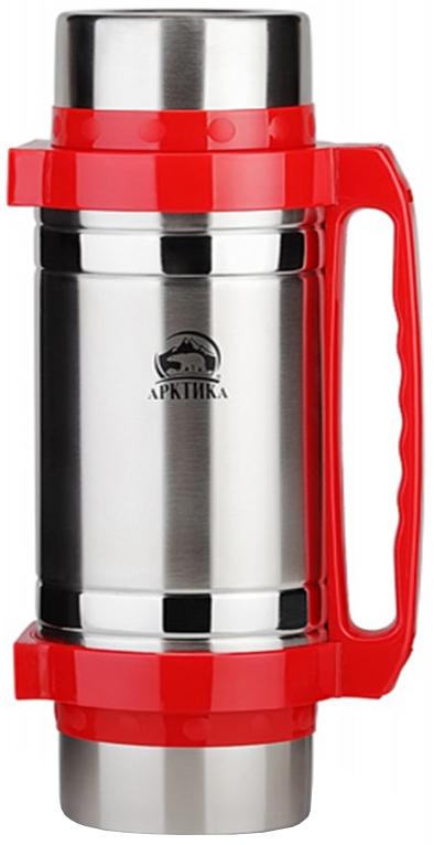 Арктика 201-2000 2 л - термос универсальный с широким горлом (Silver/Red)