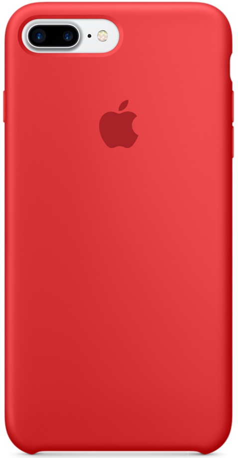 Apple Silicone Case (MMQV2ZM/A) - чехол для iPhone 7 Plus (Red)