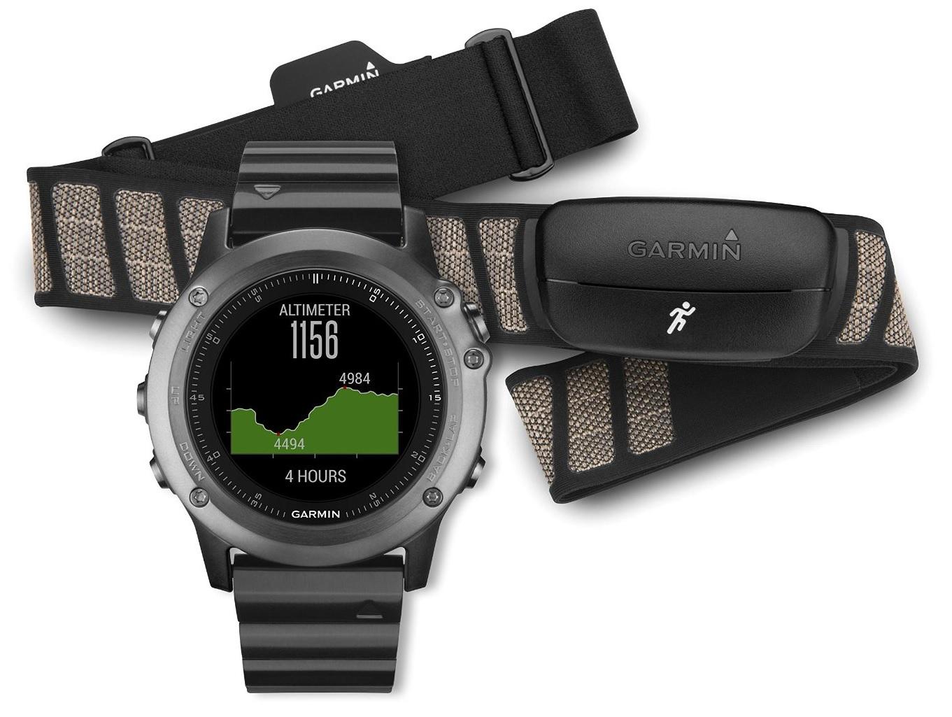Garmin Fenix 3 Performer HRM (010-01338-26) - спортивные часы + нагрудный пульсометр (Sapphire)