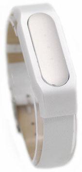 Сменный ремешок Xiaomi Leather Wristband для Xiaomi Mi Band (Silver/White)