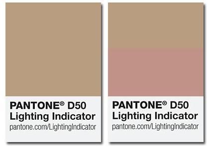 Pantone Lighting Indicator Stickers D50