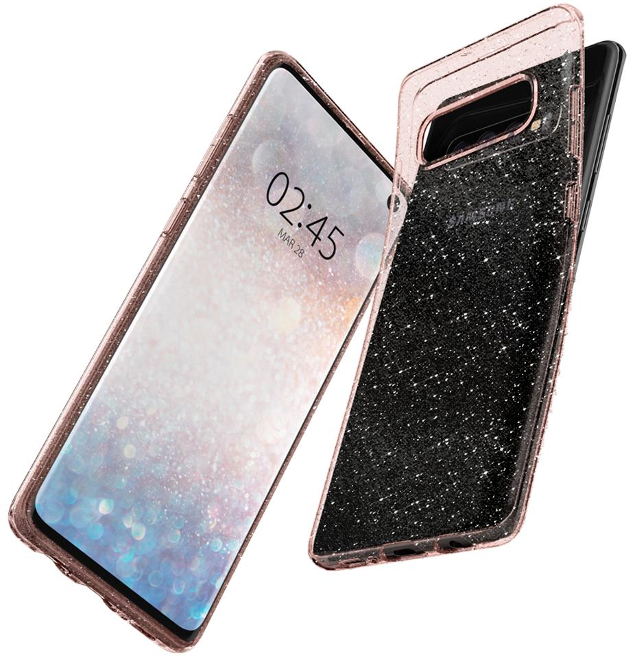 Чехол Spigen Liquid Crystal Glitter (605CS25798) для Samsung Galaxy S10 (Rose Quartz)