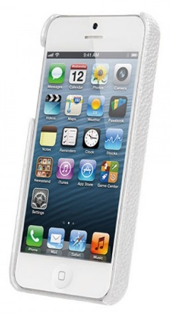 Vetti Craft Leather Snap Cover (IPO5LES1110110) - чехол для iPhone 5/5S/SE (White) от iCover