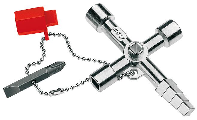 Knipex KN-001104 - ключ для электрошкафов (Steel)Ключи и наборы ключей<br>Ключ для электрошкафов<br>
