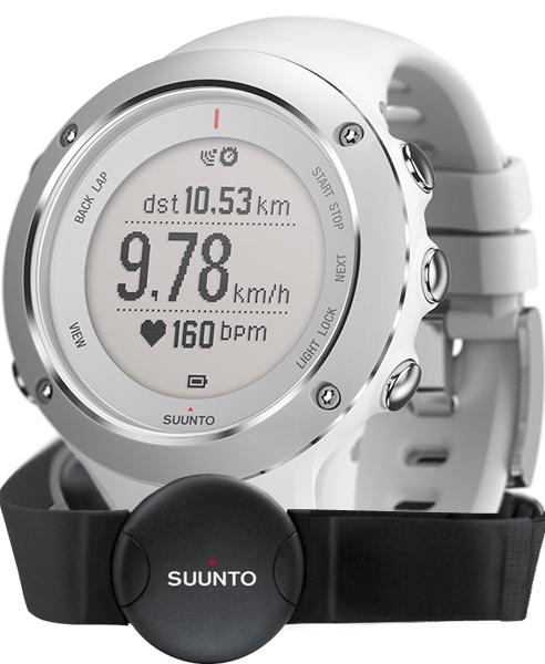 Suunto Ambit 3 Sport HR - комплект из спортивных часов и пульсомера (White)