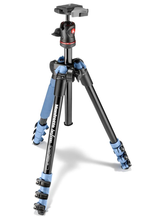 Manfrotto MKBFRA4L-BH - штатив + шаровая головка для фотокамер (Blue)