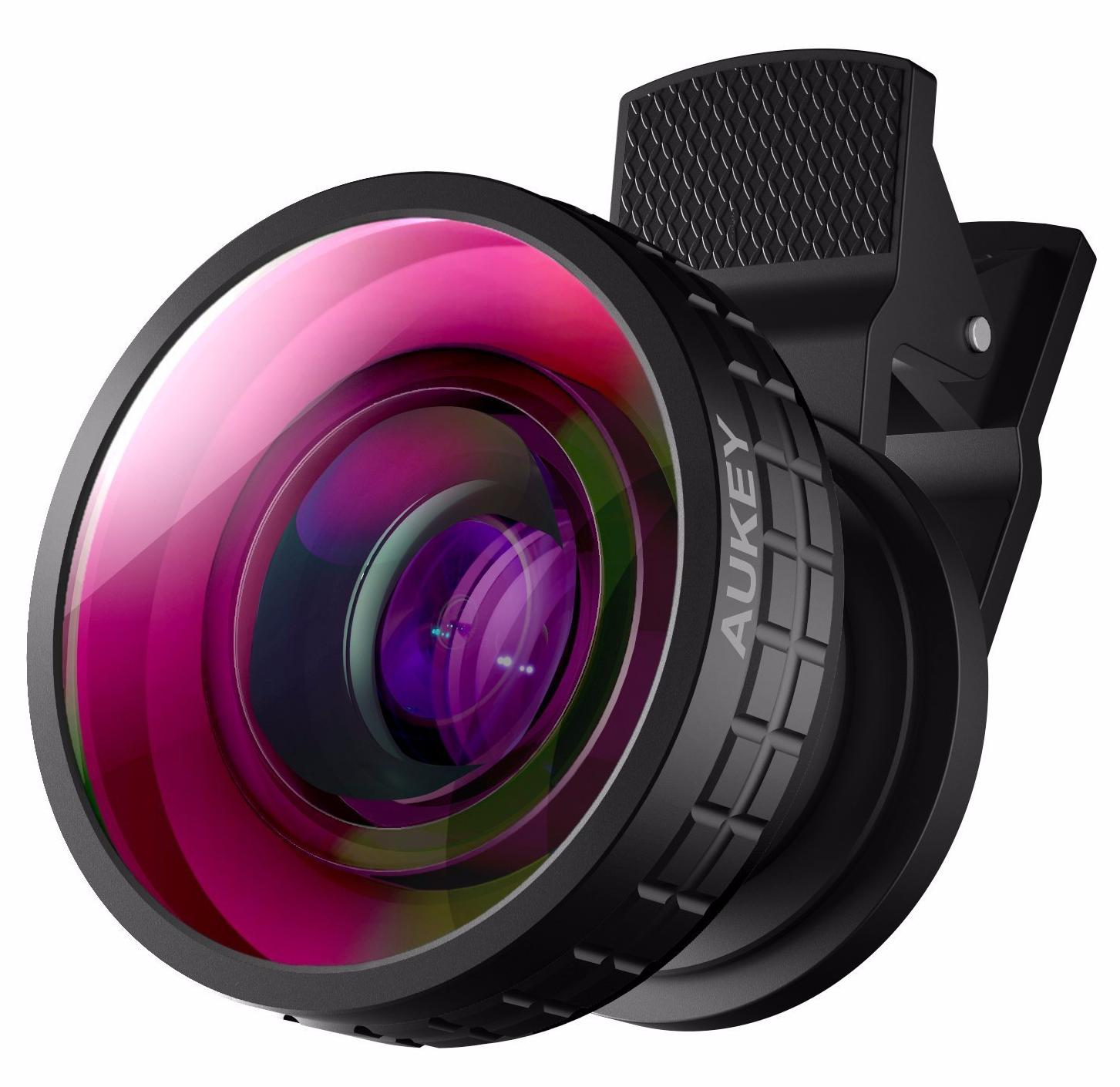 Ora pickogen he 077 uv fisheye macro wide angle camera lens with led for iphone samsung pink