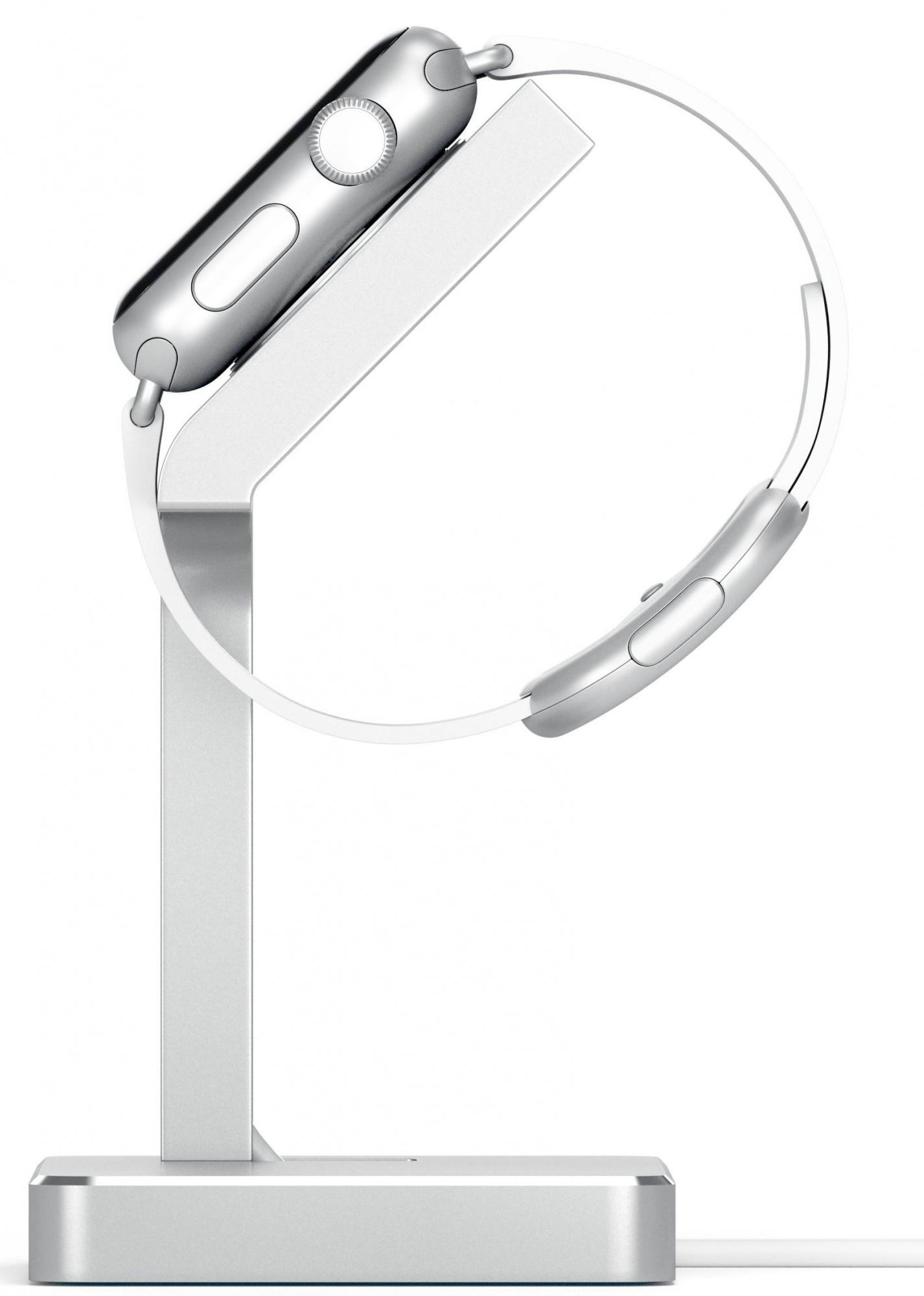 Подставка Satechi Aluminum Apple Watch Charging Stand (ST-AWSS) для Apple Watch/Series 2/3 38/42mm (Silver)