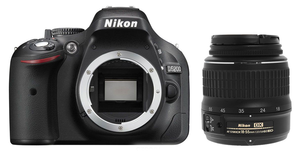 Фотоаппарат Nikon D5200 Kit (D5200 Body Black + 18-55 ED II Black) от iCover