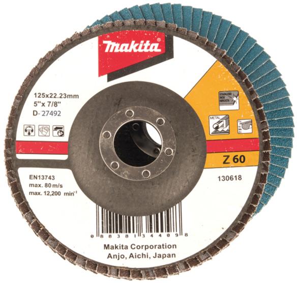 Подробнее о Makita Z60 (D-27698) - диск шлифовальный лепестковый диск шлифовальный лепестковый