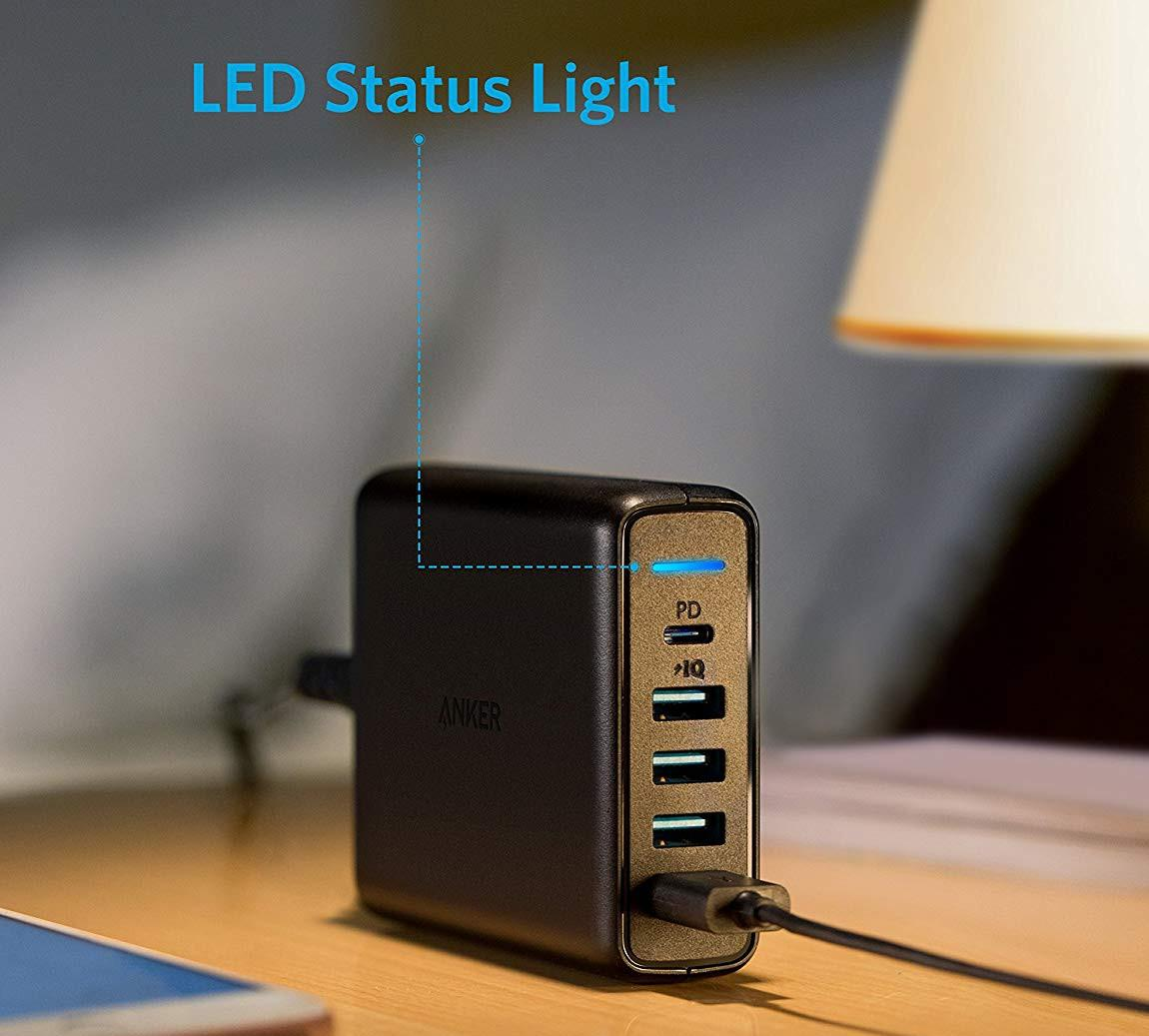 Сетевое зарядное устройство Anker Powerport 5 A2056L11 (Black)