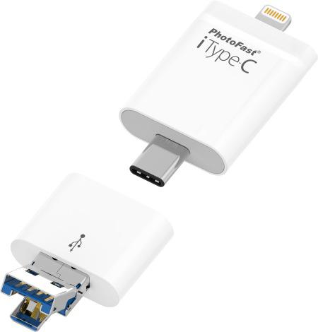 PhotoFast iType-C 128Gb - флеш-накопитель для устройств Apple (White)