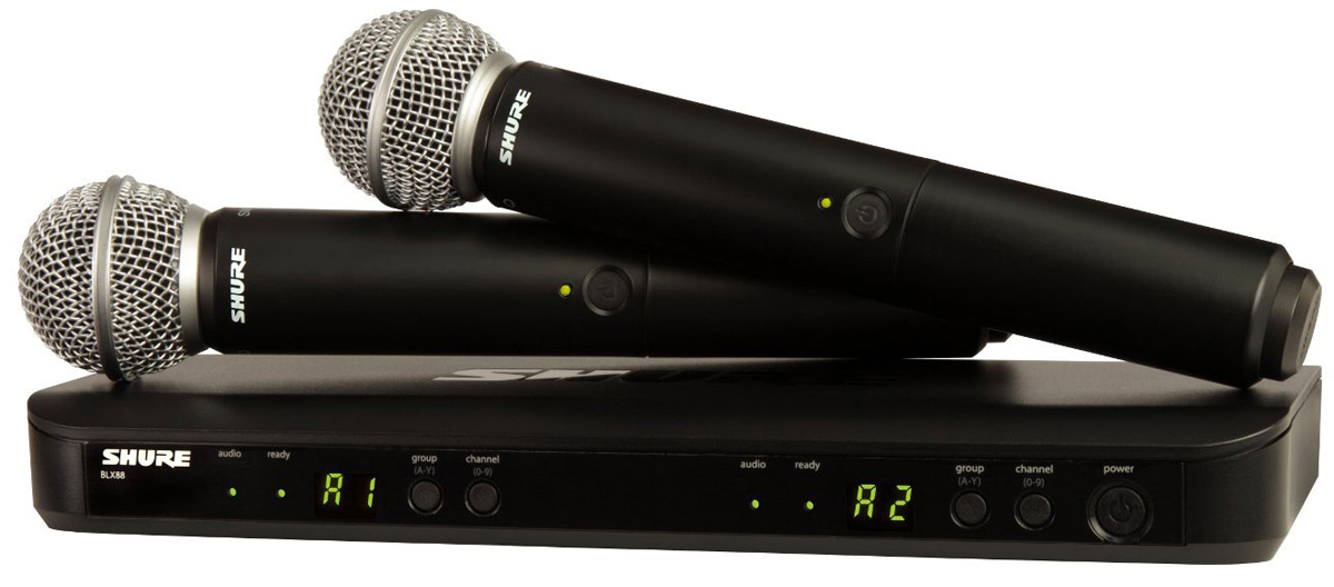 Shure BLX288E/PG58 K3E - двухканальная вокальная радиосистема (Black) A045787