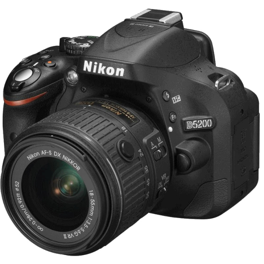 Фотоаппарат Nikon D5200 Kit (D5200 Body Black + 18-55 VRII Black) от iCover