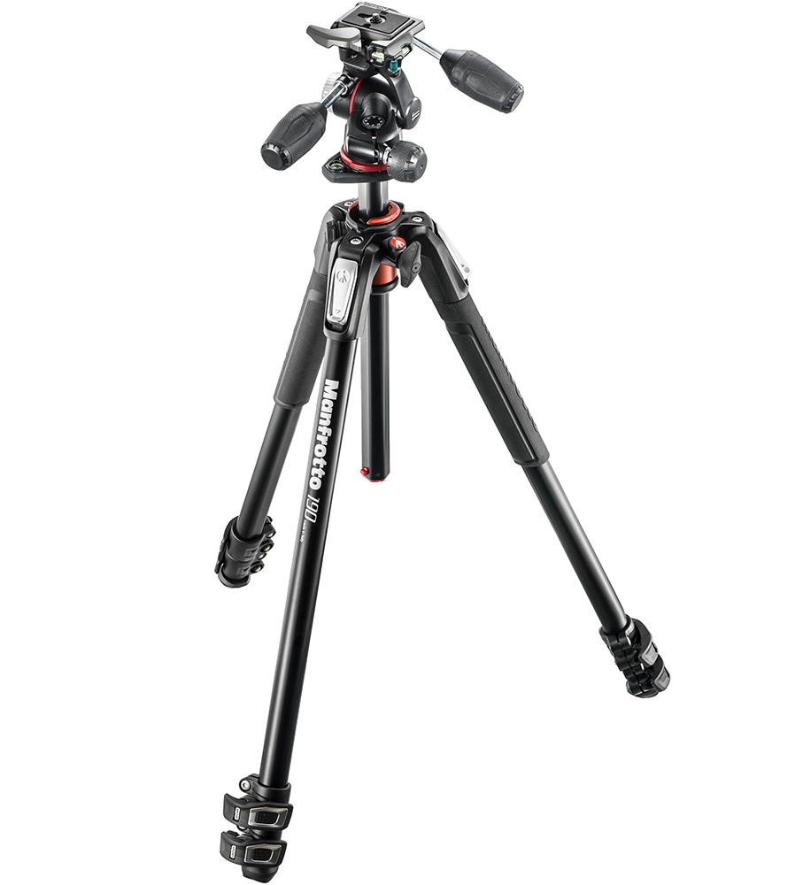 Manfrotto MK055XPRO3-3W - штатив + 3D-головка для фотокамер