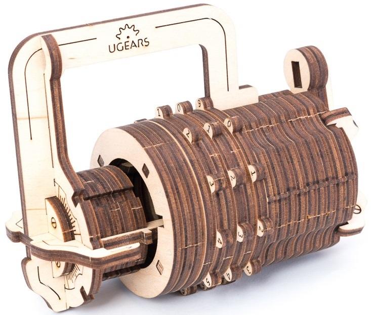 UGears Кодовый замок (70017) - 3D-пазл (Beige/Brown)