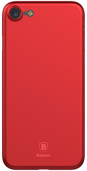 Baseus Wing Case (WIAPIPH7-E09) - чехол-накладка для iPhone 7 (Transparent Red)