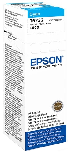 Epson T6732 (C13T67324A) - чернила для принтеров Epson L1800, L800 (Cyan)
