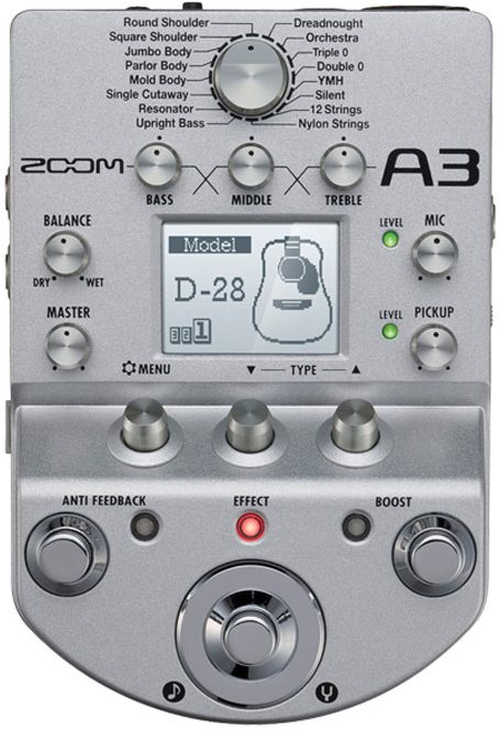Zoom A3 - процессор для акустических гитар (Silver)