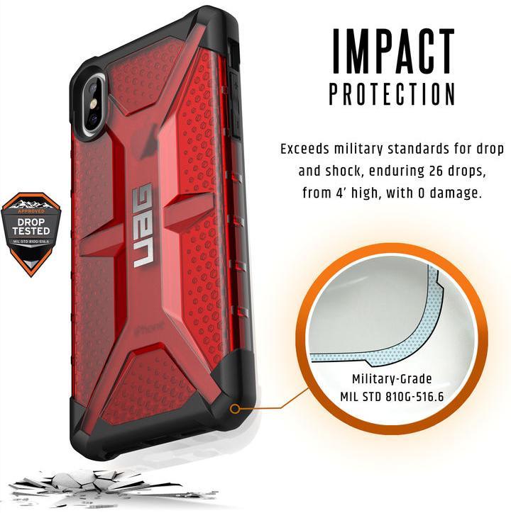 Чехол Urban Armor Gear Plasma для iPhone Xs Max (Magma)