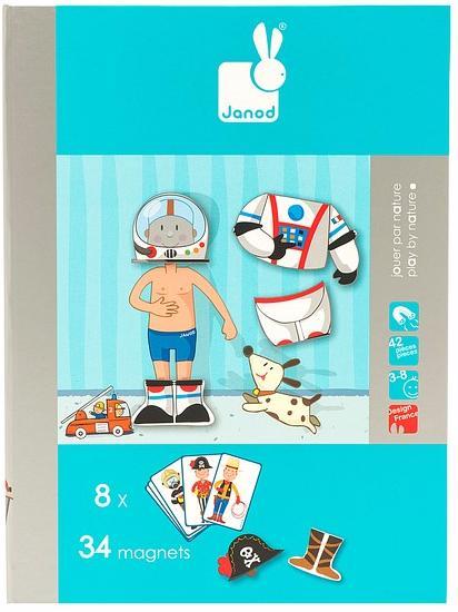 Janod Мальчишка в костюме (J05544) - магнитная книга-игра (Blue)