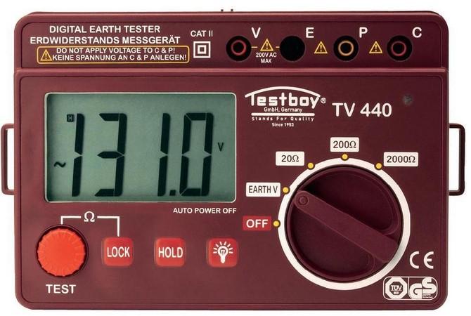 Testboy TV 440N - прибор для проверки сопротивления заземления (Red)