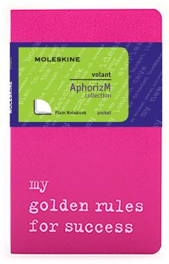 Moleskine Volant My golden rules for success QP713D/2GR