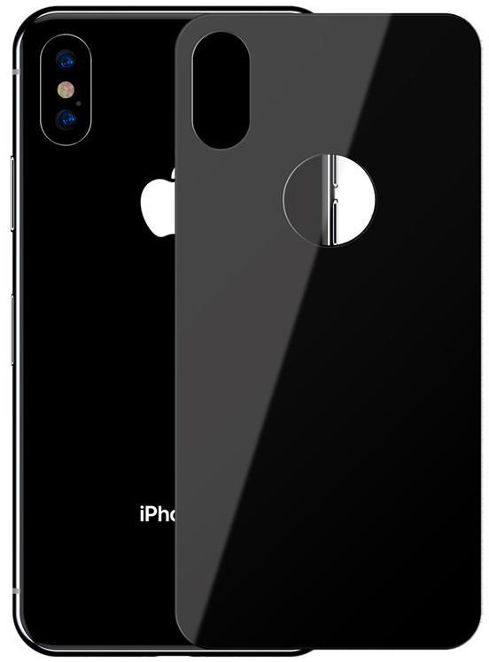 Защитное стекло Baseus Full Coverage Tempered Glass Rear Protector (SGAPIPH65-BM01) для iPhone Xs Max (Black)