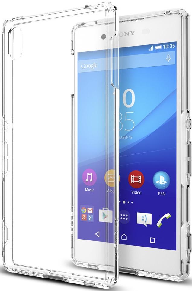 Spigen Ultra Hybrid (SGP11539) - чехол для Sony Xperia Z3+ (Crystal Clear)