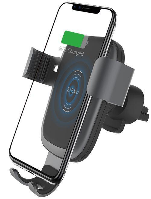 Автомобильный держатель Zikko Wireless Charger Gravity Car Stand (ASC100) с функцией беспроводной зарядки (Black)